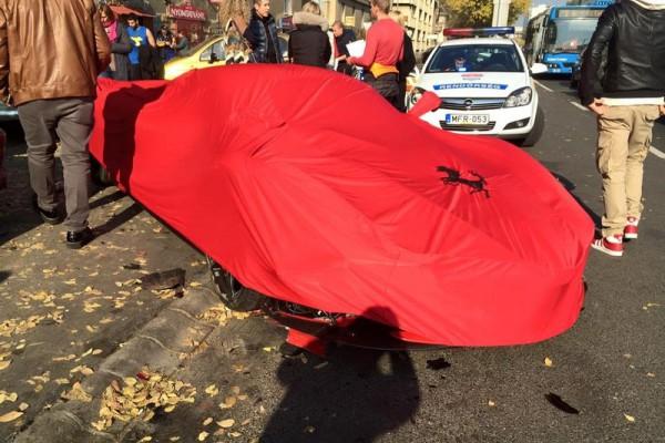 laferrari accident in bupdapest 7 - В Будапеште разбился суперкар LaFerrari