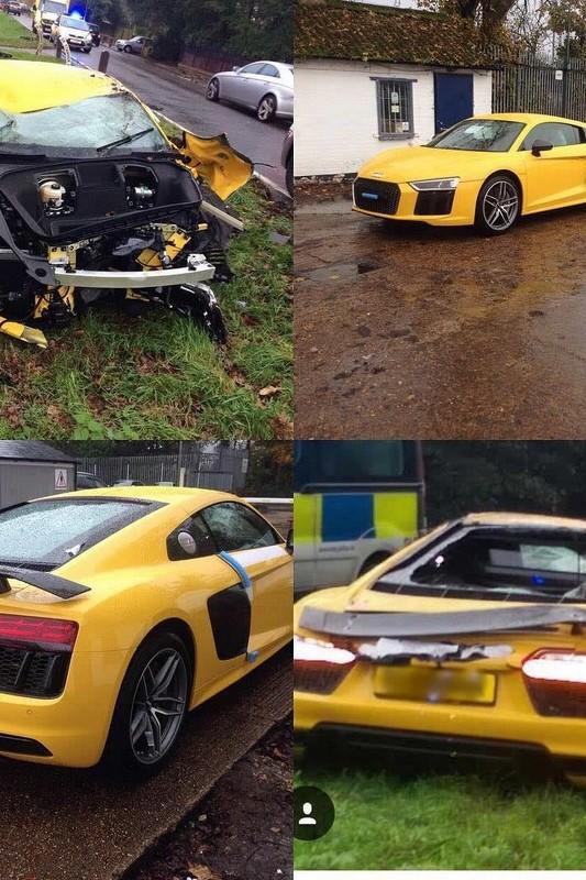 wcf audi r8 v10 plus crash audi r8 v10 plus crash 1 - В Великобритании парень перевернул на крышу новый Audi R8
