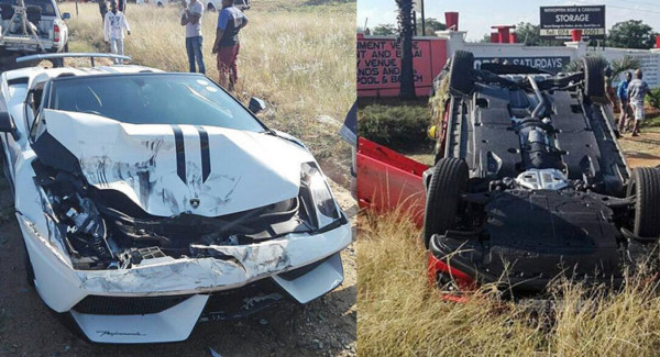 Lambo Crash Mazda 355 - Серьезная авария Lamborghini Gallardo с Mazda CX-5  произошла в ЮАР